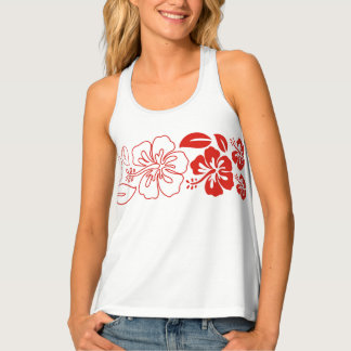Womens Tank Top-Tropical Flowers