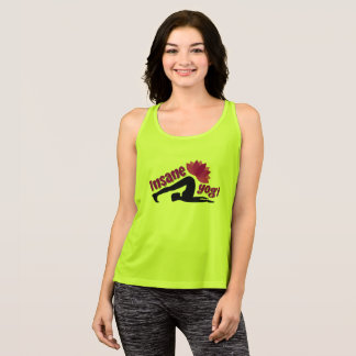 Women's Tank Top with Insane Yogi sign