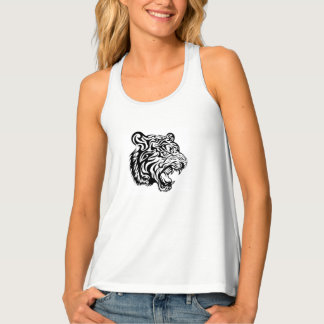 Women's Tank Top with Tribal Tiger