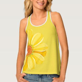 Womens Tank Top-Yellow Daisy