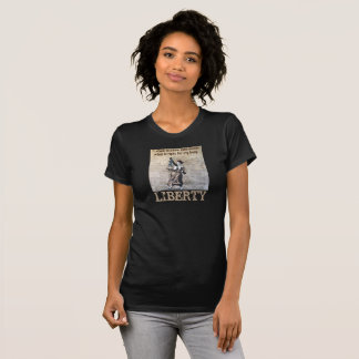 Women's tee announcing freedom from men's rules