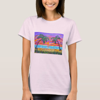 Women's Tee - Peaceful Tropical Paradise
