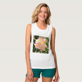 "Women's Tee Tank ""Beauty Rose in Chrome"""