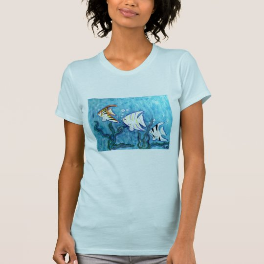 Women's tee -Tropical Angel Fish