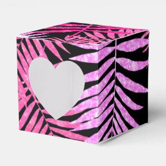 Womens Teen Girls Faux Glitter Palm Tree Leaf Favor Box