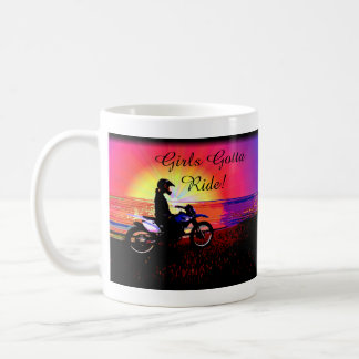 Women's Teen Girls Motorbike Motocross Riding Coffee Mug
