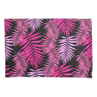 Womens Teen Girls Pink Palm Tree Leaf Faux Glitter Pillowcase