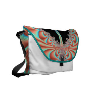 Women's/Teen's Messenger Bag with Turquoise