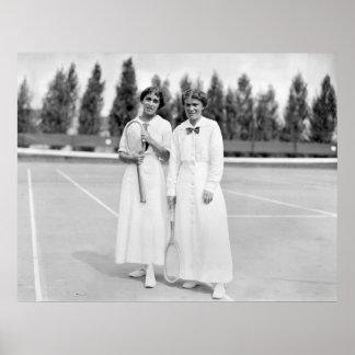 Women's Tennis Champions, 1913 Poster
