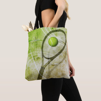 women's tennis monogrammed tote bag