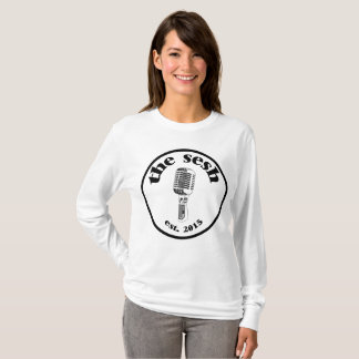 "Women's ""the sesh"" Crest White Long-Sleeved Shirt"