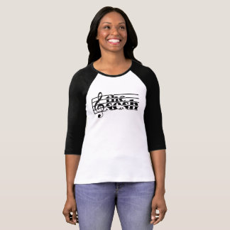 "Women's ""the sesh"" Musical Scale 3/4-Sleeve T-Shirt"