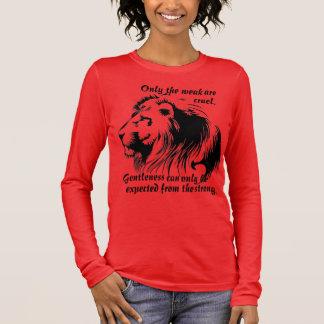 Women's The Weak Are Curel long sleeve Long Sleeve T-Shirt