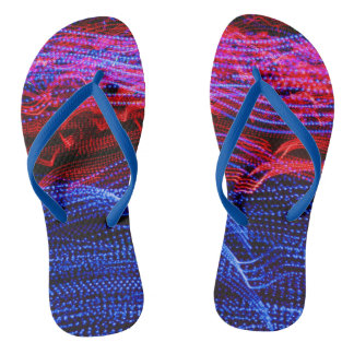 Women's trendy Blue, orange red, pink  Flip flops