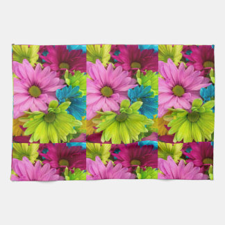 women's trendy colorful flower kitchen towel
