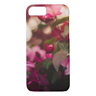 Women's trendy pink and white flower  iphone case