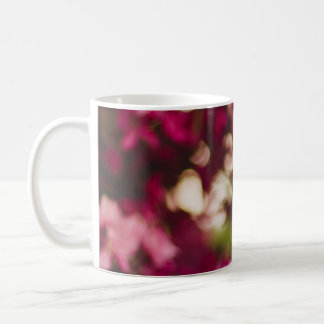 Women's trendy pink and white flower mug
