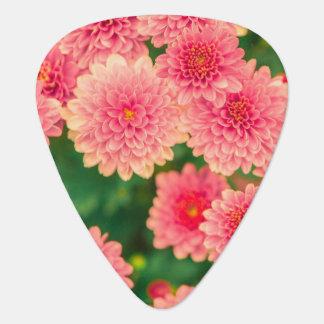 Women's trendy pink flower guitar pick