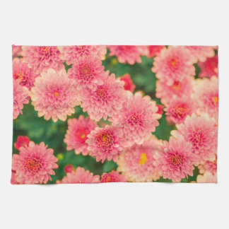 Women's trendy pink flower kitchen towel