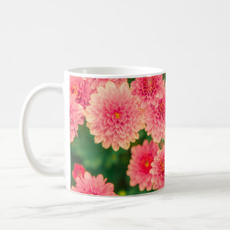 Women's trendy pink flower mug