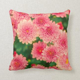 Women's trendy pink flower pillow
