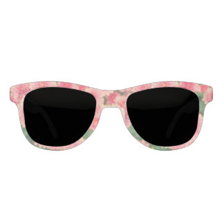 Women's trendy pink flower sunglasses
