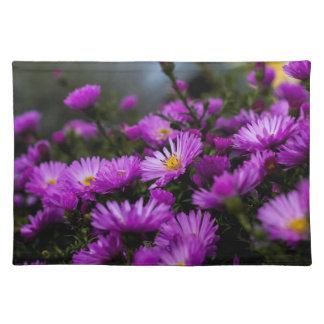 Women's trendy purple flower cloth place mat