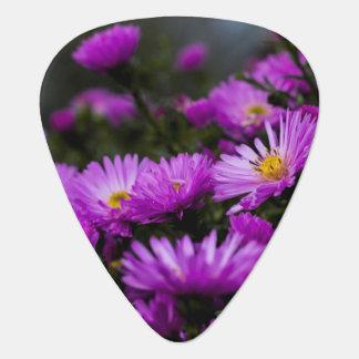Women's trendy purple flower guitar pick