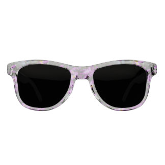Women's trendy purple flower sunglasses