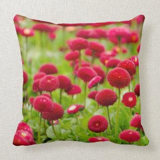 Women's trendy red summer flower  pillow