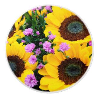 women's trendy sun flower knob