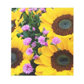 women's trendy sun flower note pad