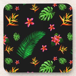 Women's Trendy Tropical Flower Leaves Home Decor Coaster