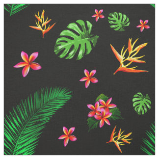Women's Trendy Tropical Flower Leaves Home Decor Fabric