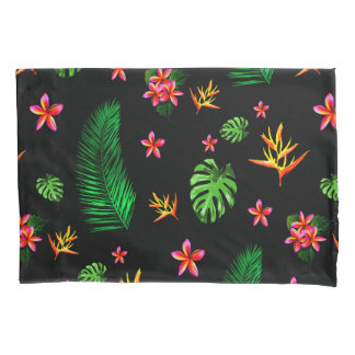 Women's Trendy Tropical Flower Leaves Home Decor Pillowcase