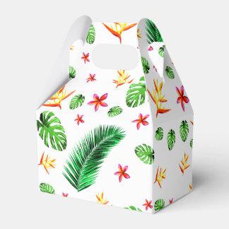 Women's Trendy Tropical Leaf Flower Party Favor Box