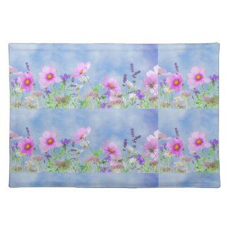 Women's trendy wild flower cloth place mat