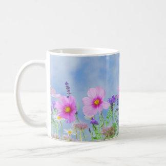 Women's trendy wild flower mug