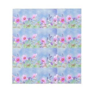 Women's trendy wild  flower note pad