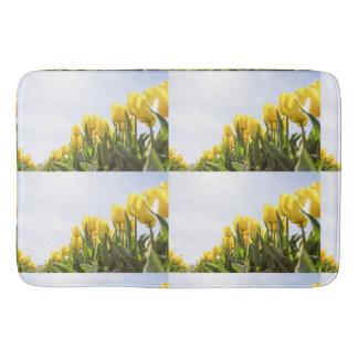 women's trendy yellow rose flower bath mat