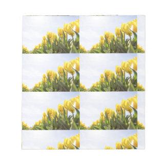 women's trendy yellow rose flower  note pad