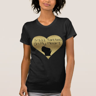 Womens Trill Tatted Gold Heart T-shirt