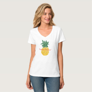 Women's Tropical Paradise Pineapple T-Shirt