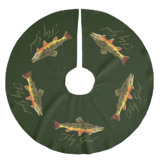 Women's Trout Fishing Brushed Polyester Tree Skirt