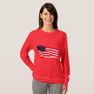 Women's United States Flag Long Sleeve T-Shirt
