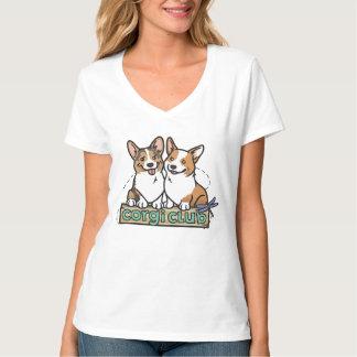 Women's V-Neck Corgi Club T-Shirt