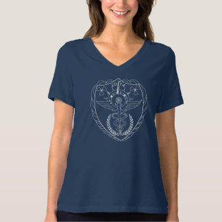 Women's V-Neck Radiology T-Shirt