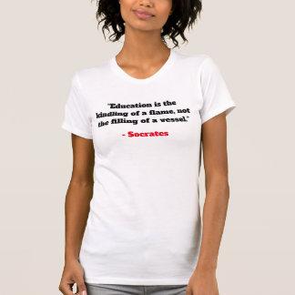 Womens V-Neck Tee - Socrates Quotes