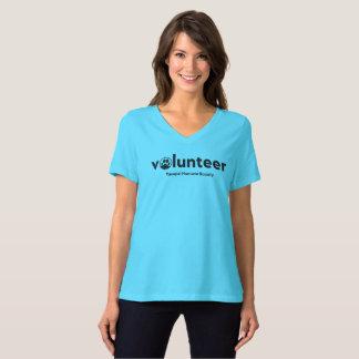 Women's v-neck volunteer t-shirt