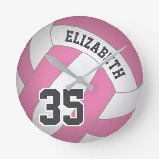 women's volleyball any color round clock